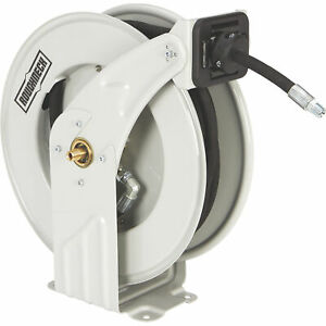 Roughneck Oil Wide Profile Hose Reel With 3 8in X 50ft Hose