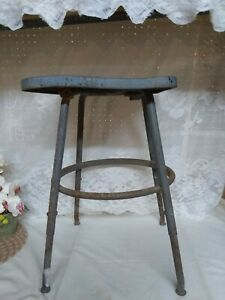Vintage Industrial Adjustable Metal Stool