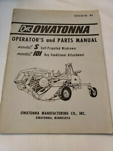 Owatonna Omc S Windrower 101 Hay Conditioner Parts Catalog Operators Manual