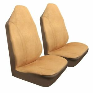 Microsuede Seat Cover Tan 1 Piece