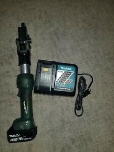 Greenlee Gator Esg45x Acsr Wire Cutter W new 18v 5 0ah Li on Battery charger