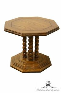 Lane Furniture Mediterranean Rope Twist Octagonal Accent End Table 1424 18