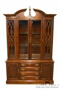 American Drew Cherry Chippendale Style 54 China Cabinet 20 826 20 827