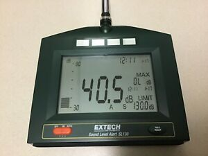 Extech Instruments Sl130 Sl130g Microphone Alarm Lcd Sound Level Alert Meter