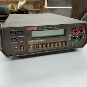 Keithley 580 Micro ohmmeter With Keithley Wires And Carrying Bag