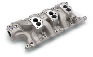Edelbrock Intake Manifold Triple Deuce Aluminum Natural Ford Small Block Each
