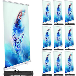 10 aluminum 33 x79 Retractable Roll Up Banner Stand Pop Up Trade Show Display