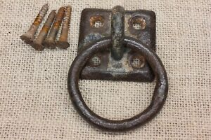 Old Horse Tie Hitching Post 2 3 8 Ring Barn Door Pull Plant Hanger Vintage Rusty