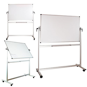 Lockways Mobile Magnetic Whiteboard Dry Erase Board 60 X 40 Double Sided For