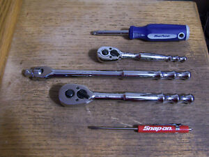 Blue point Tools 1 4 3 8 Dr 4pc Quick Release Ratchet Set Breaker Snap on