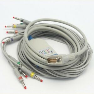 New Bionet 10 Lead Ecg ekg Cable Cardiocare Cardiotouch 2000 3000 K11