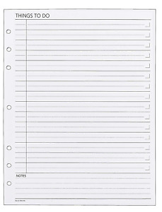 Day Runner Things To Do Planner Refill 490 232 pack Of 5