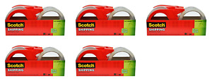 Scotch Sure Start Shipping Packaging Tape 1 88 X 38 2 Yards 2 And pack Of 5