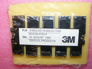 Ten New Old Stock Textool 3m 222 5118 Test Socket 22 Pin Zif Gold Plating
