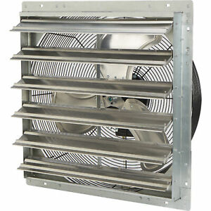 Strongway Enclosed Direct Drive Shutter Exhaust Fan 24in 2speed 3450 2893cfm