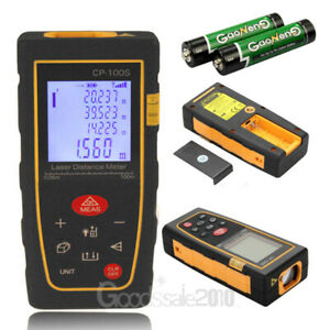 100m 328ft Digital Lcd Laser Distance Meter Range Finder Measurer Diastimeter