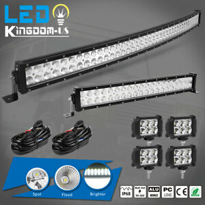 42inch Led Offroad Light Bar Combo 20 4 Pods Suv 4wd Ute For Ford Jeep 40