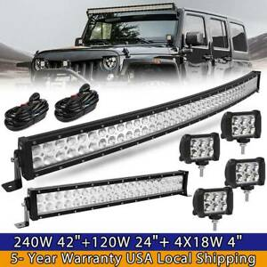 42inch Led Offroad Light Bar Combo 22 4 Pods Suv 4wd Ute For Ford Jeep 40