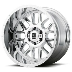 18 Inch Chrome Wheels Rims Xd Series Xd820 Grenade 18x9 Jeep Jk Lifted Set Of 5