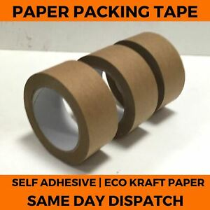 Brown Kraft Paper Tape Self Adhesive Strong Eco Packaging Parcel