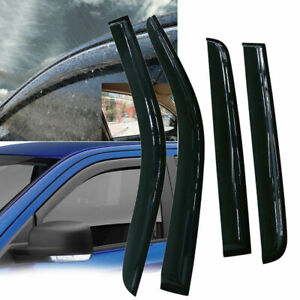 Window Visor Rain Guard Style Fit For 2005 2018 Nissan Frontier Crew Cab Pickup