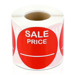 Sale Price Labels Garage Clearance Promotion Retail Stickers 2 Round 2pk