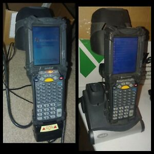 Lot Of 2 Symbol Mobile Computer Inventory Scanners W Battery Charger