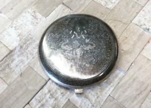 Enameled Siam Vintage Sterling Silver Compact Make Up Case Mirror 5 E8669