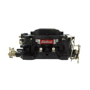Edelbrock 14053 Performer Carburetor 4 Bbl 600 Cfm Manual Choke Black Finish