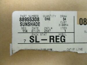 Gm Sunvisor With Lighted Vanity Mirror 88955308