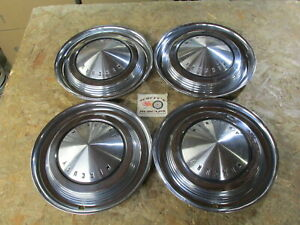 1962 1963 Mercury Monterey S 55 Park Lane 14 Wheel Covers Hubcaps Set Of 4