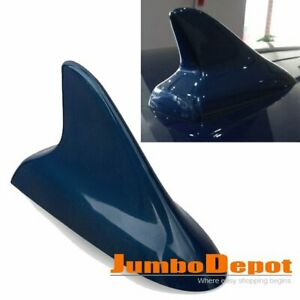 1x Blue Shark Fin Style Dummy Antenna Car Roof Decorative For Honda Civic Cr V