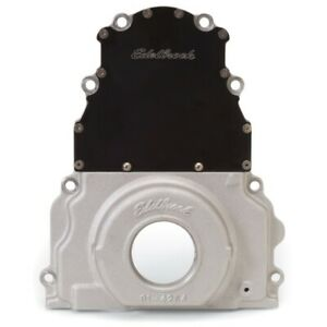 Edelbrock 4254 Aluminum 2 Piece Timing Chain Cover For Gm Gen Iii Ls Engines