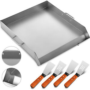 32 X 17 Stainless Steel Griddle Flat Top Grill Bbq Stove Cookware Heavy Duty