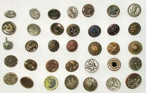 Lot B 35 Antique Victorian Metal Buttons