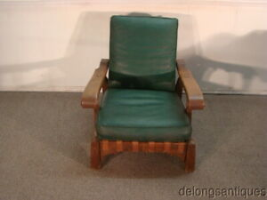 54995 Hickory Solid Oak Arts Crafts Style Adjustable Back Chair