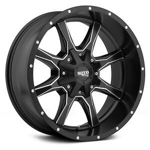 18 Inch Black Milled Wheels Rims Lifted Hummer H2 Sut H2t Moto Metal Mo970 18x10