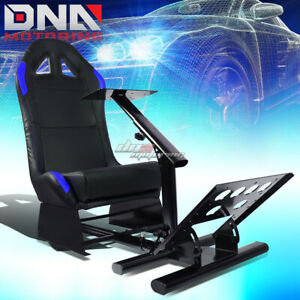 Cockpit Driving Simulator Car Auto Racing Seat Gaming Chair Gear Mount Kit Blue