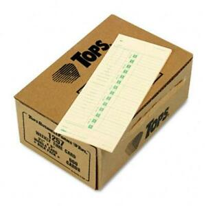Tops Time Card For Acroprint Simplex Weekly Two sided 3 1 2 X 9 500 Per Box