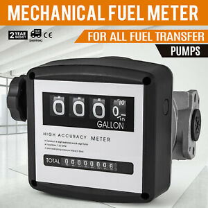 1in Mechanical Fuel Meter With 3 4in Adapters 5 32 Gpm Flow Rate
