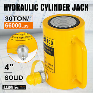 30 Tons Solid Hydraulic Cylinder Jack Safe 30t 66000lbs 100mm 4inch Stroke Ram