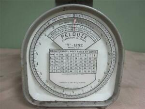 Vintage Pelouze 5lb Postal Scale Model Y 5 oct 1 1953 Rates