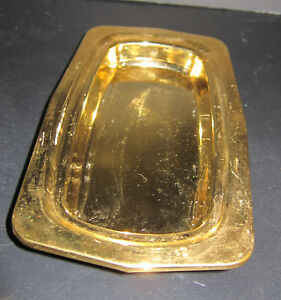 24k Gold Plate Butter Dish No Lid No Liner