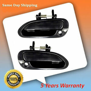 For 98 2002 Honda Accord Primed Black Front Left Right Set 2 Outside Door Handle