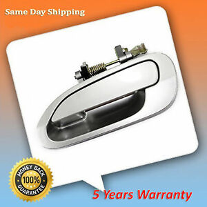 For 98 2002 Honda Accord Nh623 Satin Silver Metallic Rear L Outside Door Handle