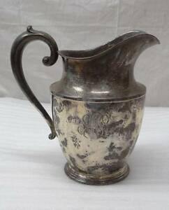 Vintage Wallace Sterling Silver Water Pitcher Jug Monogrammed 4 1 2 Pts 201 638g