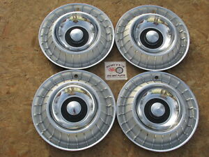 1963 Ford Thunderbird 14 Wheel Covers Hubcaps Set Of 4 Good Set