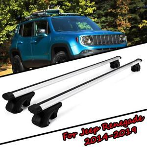 2x Top Roof Rack Cross Bar Side Rails Cargo Carrier For Jeep Renegade 2014 2019