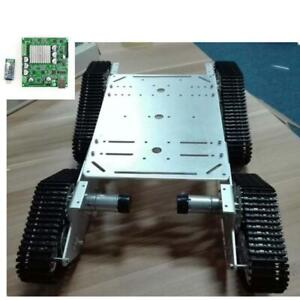 4wd Robot Platform Tank Car Chassis W Bluetooth Control Kit For Arduino