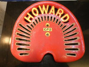 Howard Gp2 Vintage Cast Iron Tractor Farm Implement Seat Antique